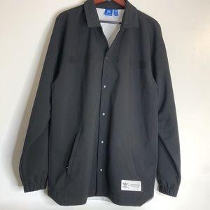 Unique Adidas Black Long Lightweight Coat Men's M